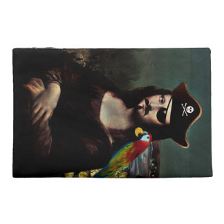Mona Lisa Pirate Captain With Mustache Travel Accessory Bag