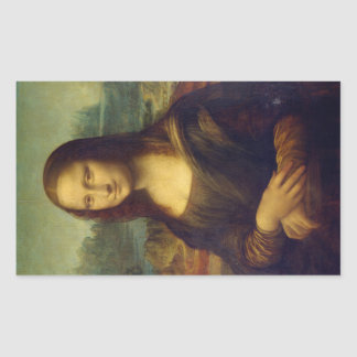 Mona Lisa Rectangle Sticker