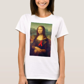 Mona Lisa Red Ribbon T-Shirt