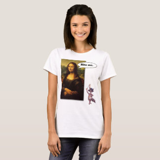 Mona Lisa Says:  Bite Me T-Shirt