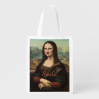 Mona Lisa Smile Reusable Bag