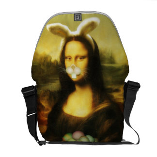 Mona Lisa, The Easter Bunny Commuter Bags