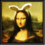 Mona Lisa The Easter Bunny Photo Cut Outs