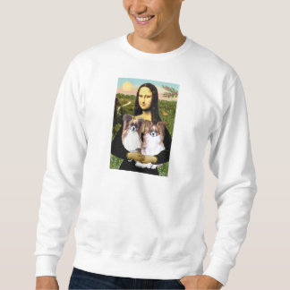 Mona Lisa - two Papillons Sweatshirt