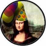 Mona Lisa Wearing Party Hat Photo Sculpture