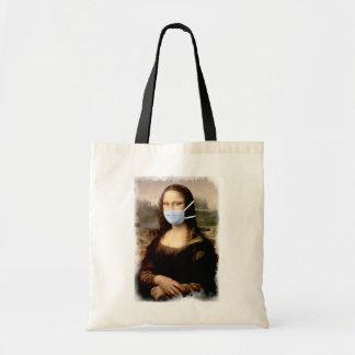 Mona Lisa with Mask Da Vinci Spoofing The Arts Tote Bag