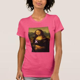 Mona Lisa With Pink Ribbon T-Shirt