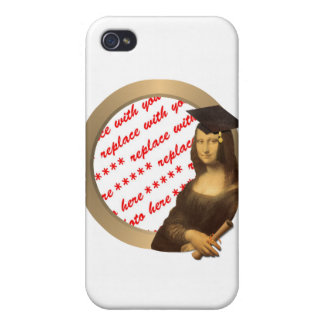 Mona Lisa's Graduation Day Photo Frame Cover For iPhone 4