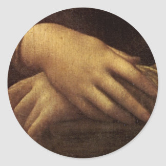Mona Lisa's Hand by Leonardo da Vinci c. 1505-1513 Classic Round Sticker