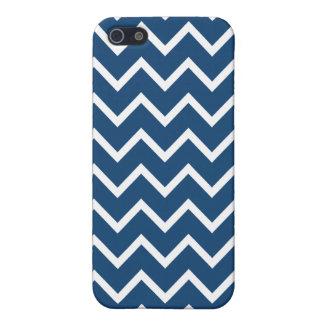 Monaco Blue Zig Zag Chevron iPhone 5/5S Covers