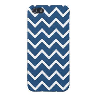Monaco Blue Zigzag Chevron iPhone 5 Case