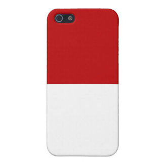 monaco country flag white red case