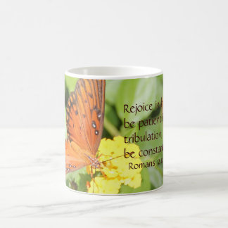 Monarch Butterfly, Bible Verse about hope & prayer Coffee Mug