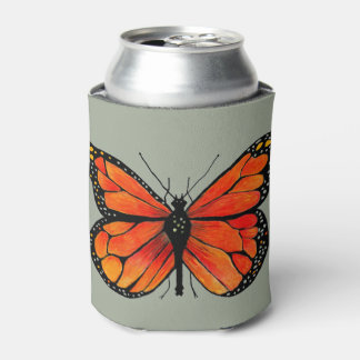 Monarch Butterfly Design on Can Cooler