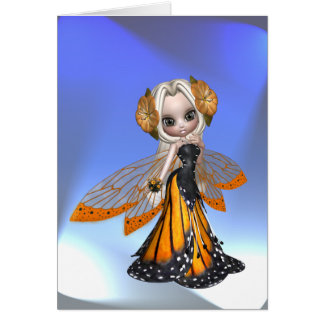 Monarch Butterfly Fairy Note Card