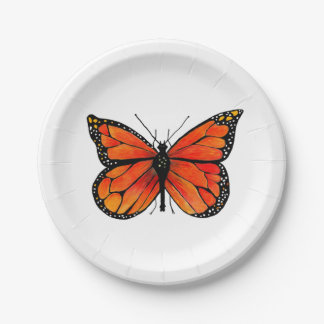 Monarch Butterfly on Paper Plates
