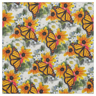 Monarch Butterfly Pattern Fabric
