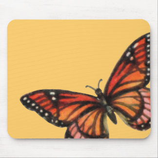 Monarch on Custom Color Background Mouse Pads