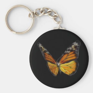 Monarch Orange Butterfly Flying Insect Key Ring