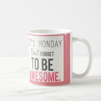 monday cafe basic white mug