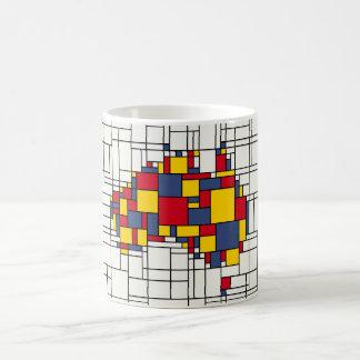 Mondrian inspired Australia Map Coffee Mug