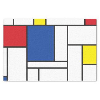 Mondrian Minimalist De Stijl Simple Modern Art Tissue Paper