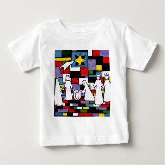 Mondrian Nativity - De Stijl - Neoplasticism Baby T-Shirt