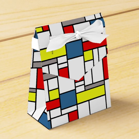 Mondrian style design favour box