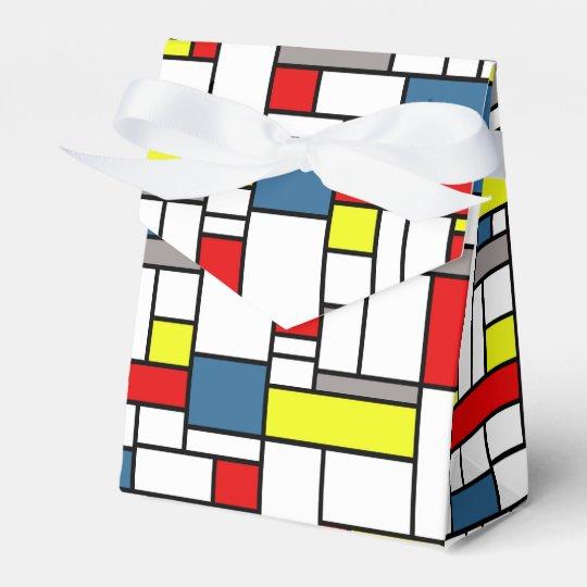Mondrian style design wedding favour boxes