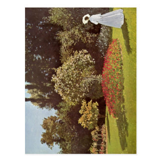 Monet, Claude Frau im Garten 1867 Technique ?l auf Postcards
