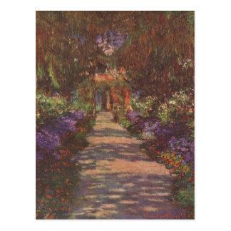 Monet, Claude Gartenweg 1902 Technique ?l auf Lein Post Cards