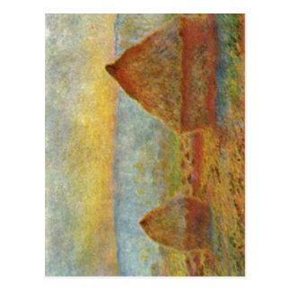 Monet, Claude Heuhaufen 1884 Technique ?l auf Lein Postcard