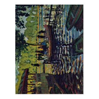 Monet, Claude La Grenouill?re 1869 Technique ?l au Postcard