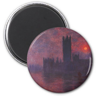 Monet Houses of Parliament at Sunset Magnet