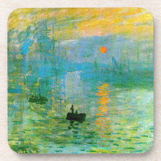 Monet Impressionism Sunrise Coasters