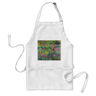 Monet Iris Garden at Giverny Apron