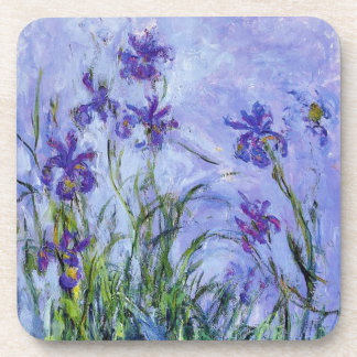 Monet Lilac Irises Coasters