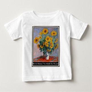 Monet Makes The World Go Round  Baby T-Shirts. Baby T-Shirt