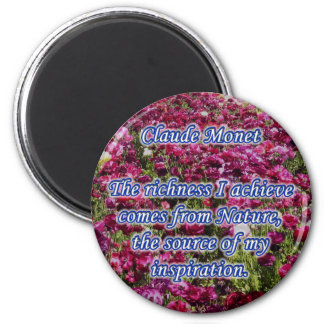 Monet Quote Magnet Richness of Nature