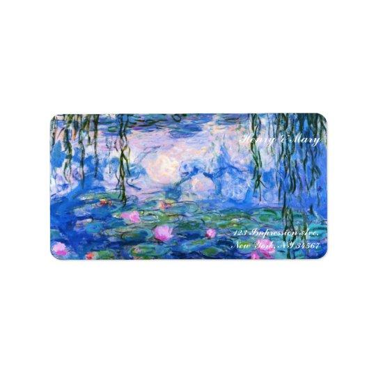 Monet's Water Lilies Label
