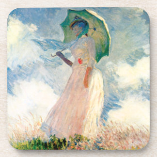 Monet Woman With A Parasol Coasters