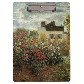 Monet's Garden at Argenteuil by Claude Monet Clipboard