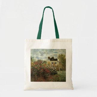 Monet's Garden at Argenteuil by Claude Monet Tote Bag