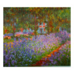 Monet's Garden by Claude Monet Poster