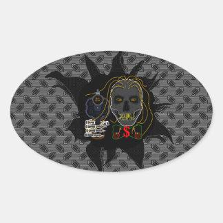 MONEY MACHINE - Cold Steel Line Oval Sticker