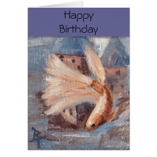 Mongo Betta Fish Greeting Card