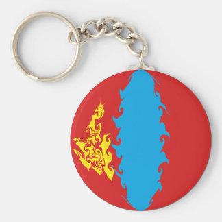 Mongolia Gnarly Flag Keychains