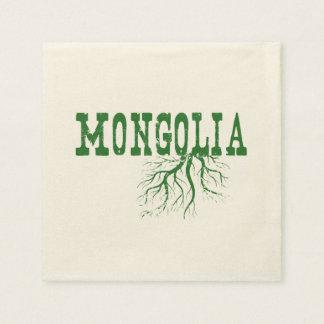 Mongolia Roots Paper Napkin