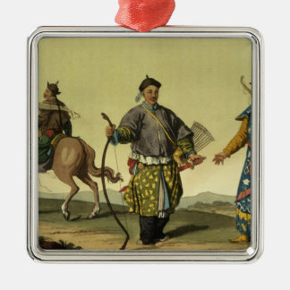 Mongolian Eight Flags soldiers from Ching's milita Christmas Ornament