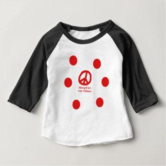 Mongolian Language And Peace Symbol Design Baby T-Shirt